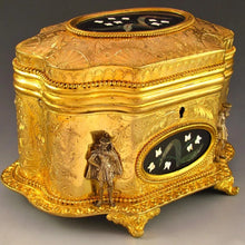 Load image into Gallery viewer, Antique French Signed Giroux Pietra Dura Gilt Bronze Ormolu Jewelry Casket Box