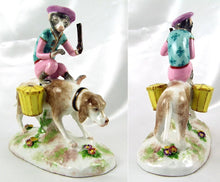 Load image into Gallery viewer, French Porcelaine De Paris Circus Monkey & Dog Figurine