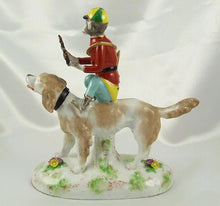 Load image into Gallery viewer, Rare French Porcelain Monkey Band Riding a Dog Figurine