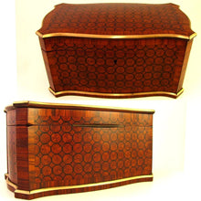 Load image into Gallery viewer, Antique French Tahan Paris tea caddy marquetry box
