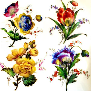 French Paris Porcelain hand painted flowers, plates antique