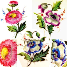 Load image into Gallery viewer, Flowers hand painted on antique French Paris porcelain plates