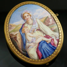 Load image into Gallery viewer, Antique French 18K Gold Enamel Miniature Portrait Brooch
