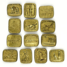 Load image into Gallery viewer, Antique French Bronze Multiple Wax Seal Set, Palais Royal Sceau Cachet