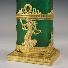 Load image into Gallery viewer, gilt bronze ormolu French Napoleon III era antique vase mount neoclassical decor