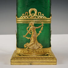 Load image into Gallery viewer, Neoclassical Empire gilt bronze ormolu dancing nymph Napoleon III era French vase