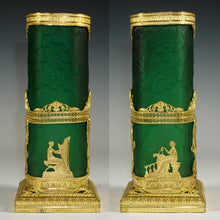 Load image into Gallery viewer, Antique French Ormolu Acid Etched Cameo Glass Vase Empire Neoclassical Gilt Bronze Mounts
