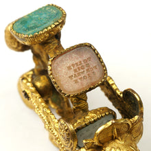 Load image into Gallery viewer, Antique Victorian Gilt Ormolu Wax Seal Rotating Wheel Letter Stamps