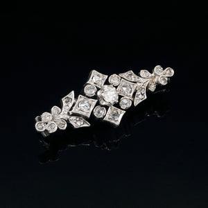 vintage 1930s art deco jewelry diamond brooch