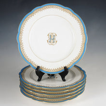 Load image into Gallery viewer, Set antique French Paris porcelain dessert plates
