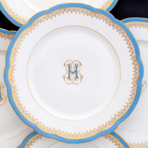 Antique French Paris Porcelain dessert plates