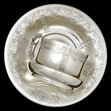 French silver cup and saucer