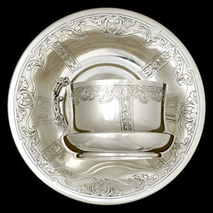 French sterling silver cup and saucer