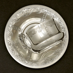 Antique sterling silver cup & saucer