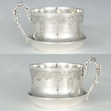 Antique French Sterling Silver Cup & Saucer Set