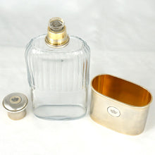 Load image into Gallery viewer, Antique French Sterling Silver Liquor Whiskey Hip Flask by Gustave Keller