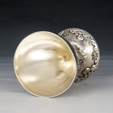 Load image into Gallery viewer, Antique French .800 Silver Egg Cup, Figural Hen Chickens