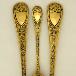 Odiot pattern 'Napoleon' flatware, Caduceus & Snakes french sterling