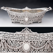 Load image into Gallery viewer, Antique French sterling silver jardiniere cache pot