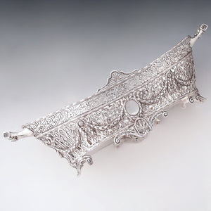 ornate french rococo pierced sterling silver jardiniere