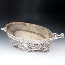 Load image into Gallery viewer, antique jardiniere cache pot planter zinc liner
