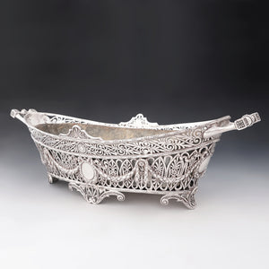 Antique French Sterling Silver Large Jardiniere Table Centerpiece