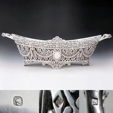 Load image into Gallery viewer, French sterling silver hallmarks jardiniere cache pot