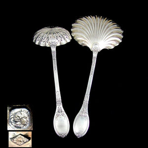 French sterling silver Lapparra & Gabriel Baron Gérard Empire pattern Wings, Torch