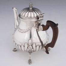 Load image into Gallery viewer, Antique French Sterling Silver Teapot or Coffee Pot | Hoof Feet, Empire Style Acanthus & Gadroon Pattern