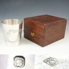 Load image into Gallery viewer, Antique French Sterling Silver Tumbler Cup, Thistle Pattern