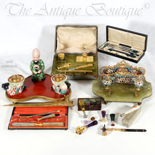 Load image into Gallery viewer, Antique French .800 Silver Wax Seal, Carved Coral & Mother of Pearl Handle, Original Box