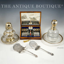 Load image into Gallery viewer, Antique Dutch .833 Silver 15pc Tea / Coffee Flatware Service