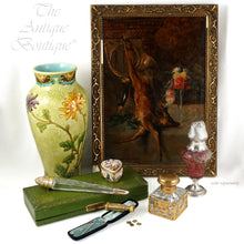 Load image into Gallery viewer, French Art Nouveau Sterling Silver Cranberry Overlay Cameo Glass Sugar Shaker, Caster