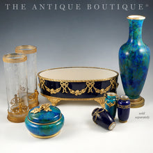 Load image into Gallery viewer, Antique French Sevres Porcelain Paul Milet Cabinet Vase Cobalt Blue Empire Style Gilt Bronze Ormolu Mounts