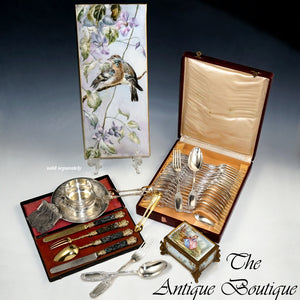 24pc Art Nouveau French Sterling Silver Flatware Set