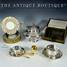 Load image into Gallery viewer, Antique French Sterling Silver Tea / Coffee Cup & Saucer Set, Henin & Cie, Neoclassical