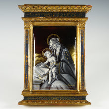 Load image into Gallery viewer, Antique French Limoges Enamel on Copper Religious Portrait Plaque