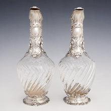 Load image into Gallery viewer, Antique French sterling silver wine decanters