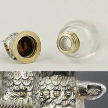 Load image into Gallery viewer, Victorian Sampson Mordan Sterling Silver Owl Perfume Scent Bottle
