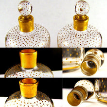 Load image into Gallery viewer, PAIR Antique French Paris Crystal & Gilt Painted Scent, Perfume Bottles SIGNED