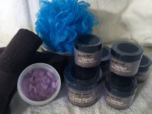 <center>Love Spell<br> <small><small>Emulsified Sugar Scrub</small></small>