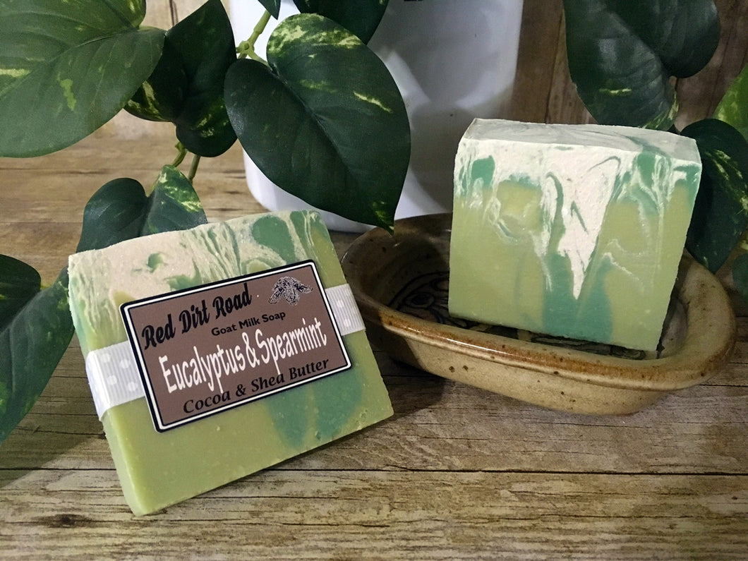 <center>Eucalyptus & Spearmint<br> <small><small>Goat Milk Soap</small></small>
