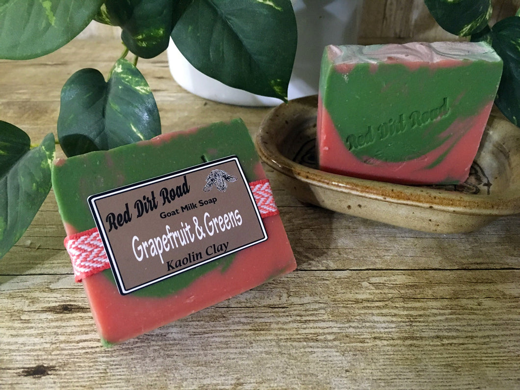 Grapefruit & Greens  Goat Milk Soap