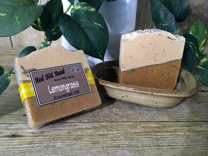 <center>Lemongrass<br> <small><small>Goat Milk Soap</small></small>