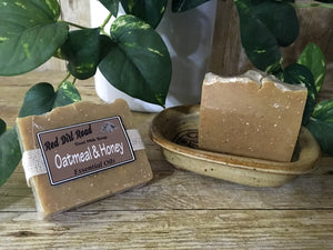 <center>Oatmeal & Honey<br> <small><small>Goat Milk Soap</small></small>