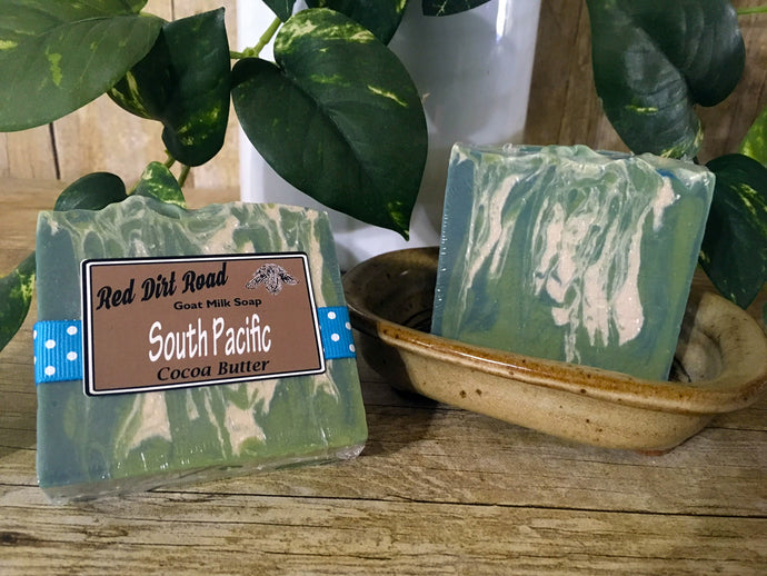 <center>South Pacific<br> <small><small>Goat Milk Soap</small></small>