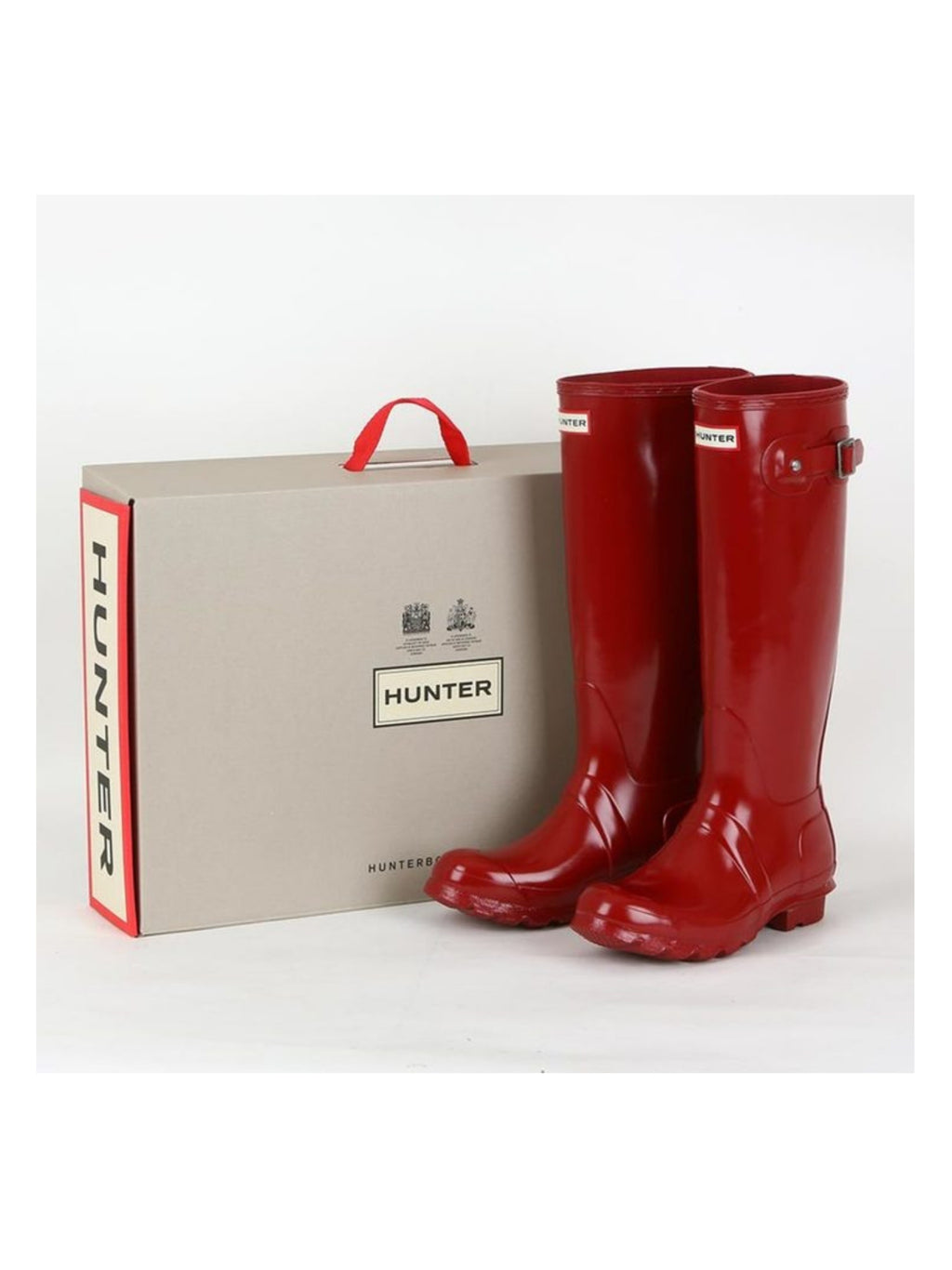Botas Hunter glossy red (US 9)