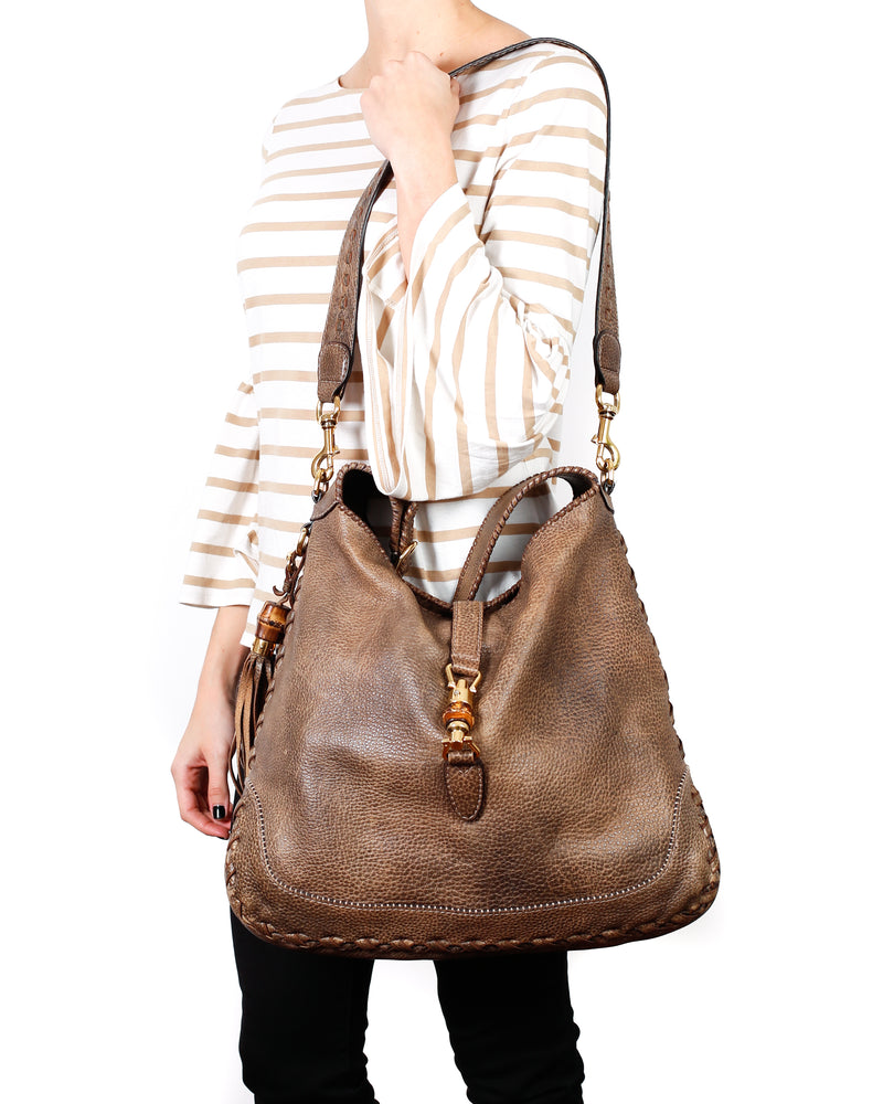Jackie Hobo Leather Bag