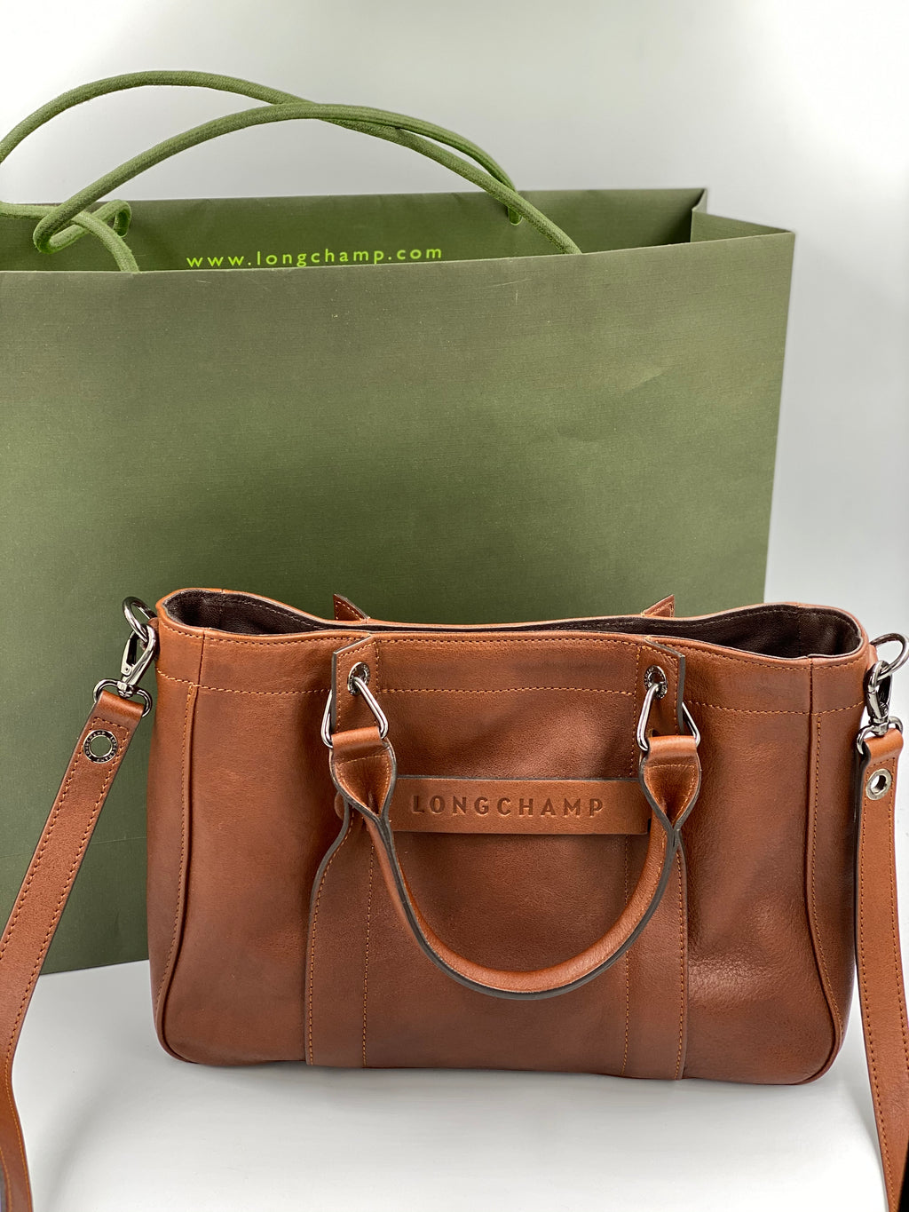 Cartera de cuero Longchamp Crossbody