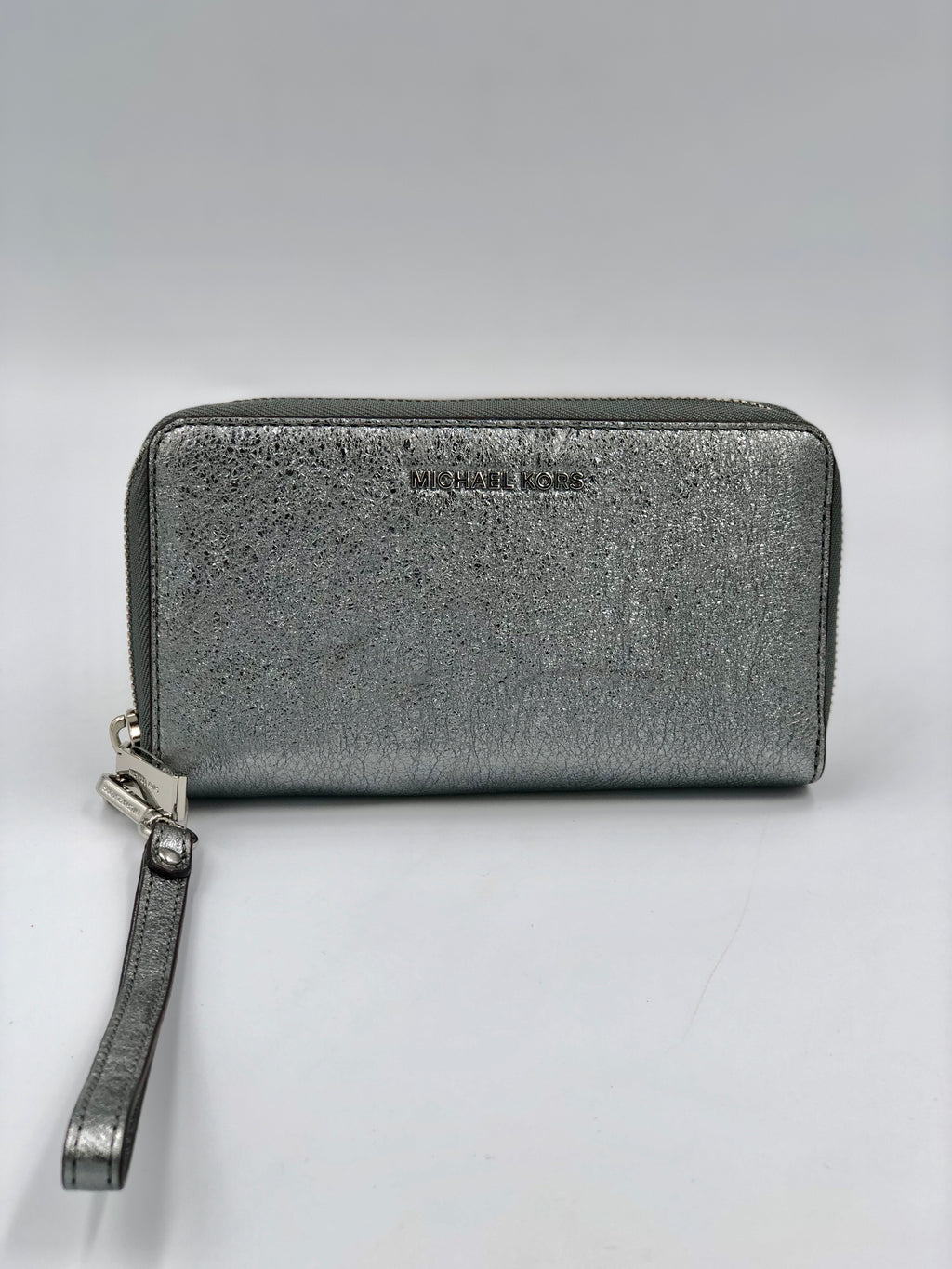 Billetera Wristlet Pewter Michael Kors